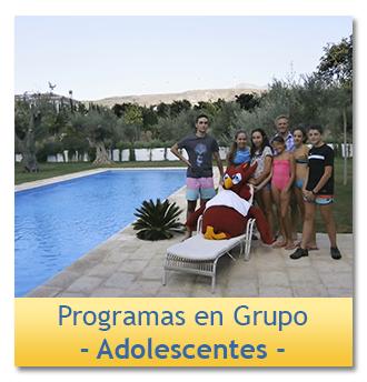 Programa de inmersión en inglés Grupo para Adolescentes